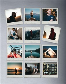 gifts: Personalised Polaroid Magnets Set Of Twelve!