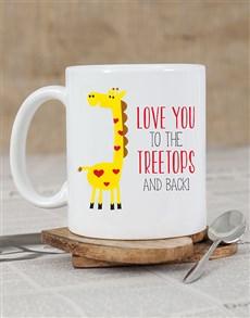 gifts: Personalised Treetops Giraffe Mug!