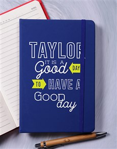 gifts: Personalised A Good Day Notebook!