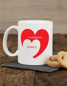 gifts: Personalised Heart Mug!