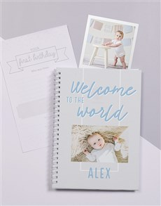 gifts: Personalised Welcome To The World Baby Journal!