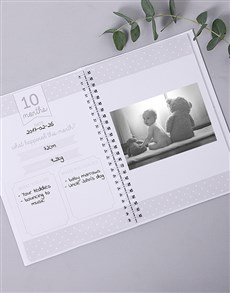 gifts: Personalised Fun Dino Babys First Year Journal!