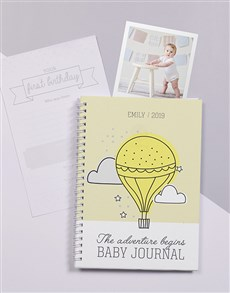 gifts: Personalised Adventure Awaits Baby Journal!