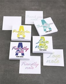 gifts: Personalised Colourful Note Gift Set!