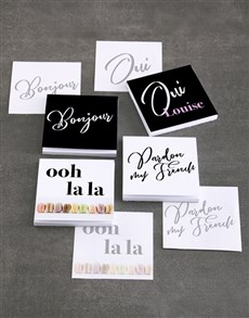 gifts: Personalised French Fantasy Note Gift Set!