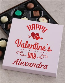 gifts: Personalised Happy Valentines Choc Tray!