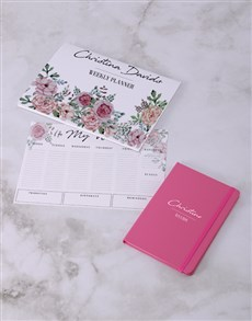gifts: Personalised Feminine Floral Desk Stationery Set!