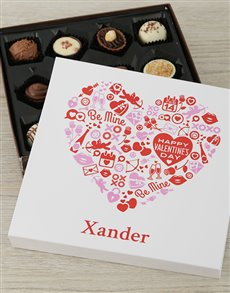 gifts: Personalised Valentine Heart Choc Tray!