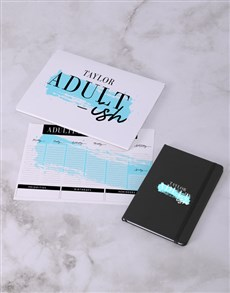 gifts: Personalised Adultish Desk Stationery Set!