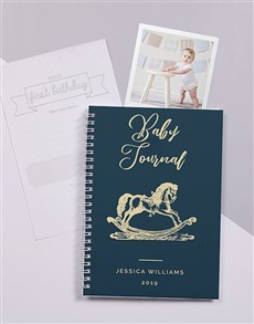 gifts: Personalised Rocking Horse Baby Journal!