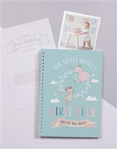 gifts: Personalised Fairytale Bunny Baby Journal!