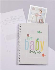 gifts: Personalised Little Birdie Baby Journal!