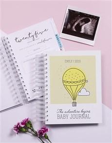 gifts: Personalised Adventure Begins Pregnancy Journal!