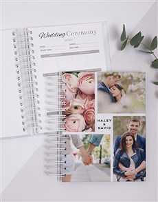 gifts: Personalised Photo Collage Wedding Journal!