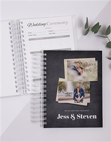 gifts: Personalised Photo Modern Wedding Journal!