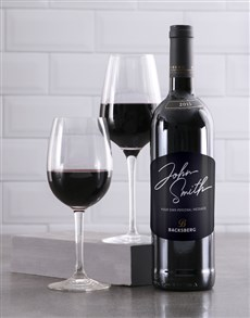 gifts: Personalised Signature Backsberg Wine!