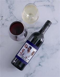 gifts: Personalised Scrapbook Photo Wine!