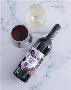gifts: Personalised Collage Photo Wine!