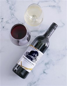 gifts: Personalised Golden Wishes Photo Wine!