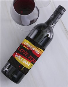 gifts: Personalised Fiery Love Wine!
