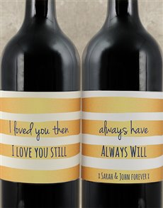 gifts: Personalised Always Love You Wine Duo!