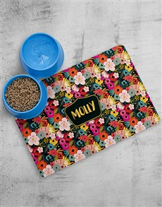 gifts: Personalised Floral Placemat and Bowls!