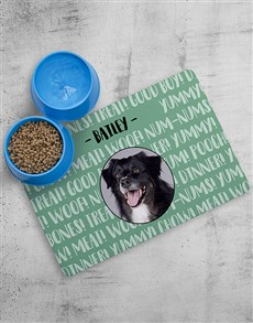 gifts: Personalised Dog Placemat and Bowls!