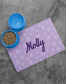 gifts: Personalised Pawsome Placemat and Bowls!