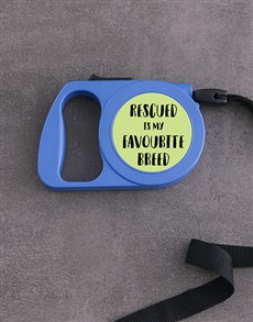 gifts: Personalised Rescue Retractable Dog Leash!