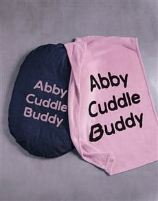 gifts: Personalised Cuddle Buddy Dog Bed and Blanket!
