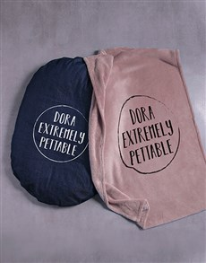 gifts: Personalised Pettable Dog Bed and Blanket!