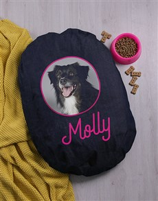 gifts: Personalised Time For A Nap Dog Denim Bed!