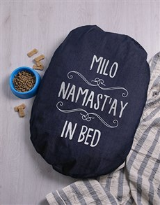 gifts: Personalised Stay In Bed Dog Denim Bed!