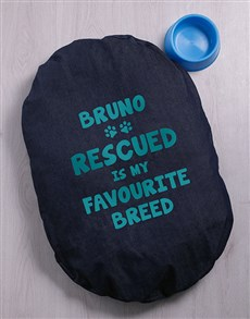 gifts: Personalised Favourite Breed Dog Denim Bed!