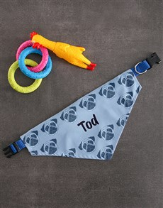 gifts: Personalised Pug Bandanna And Toys!