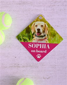 gifts: Personalised Pink Car Sign!