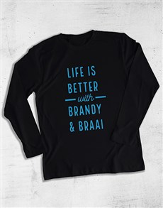 gifts: Personalised Life Is Better Long Sleeve T Shirt!