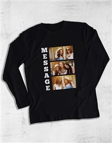 gifts: Personalised Text and Photos Long Sleeve T Shirt!