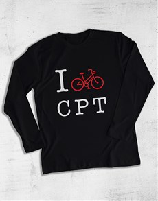 gifts: Personalised Initials Bicycle Long Sleeve T Shirt!