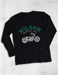 gifts: Authentic Motorcycle Long Sleeve T Shirt!