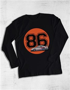 gifts: Personalised Year Race Car Long Sleeve T Shirt!