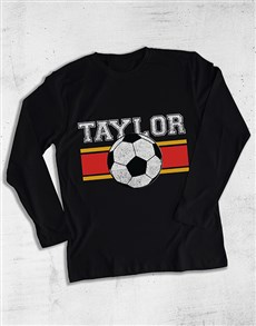 gifts: Personalised Vintage Soccer Long Sleeve T Shirt!