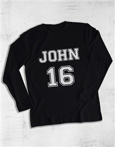 gifts: Personalised Classic Sports Long Sleeve T Shirt!