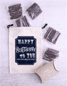 gifts: Personalised Birthday Biltong Bag!