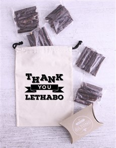 gifts: Personalised Thank You Biltong Bag!