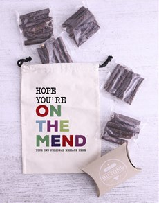 gifts: Personalised On The Mend Biltong Bag!