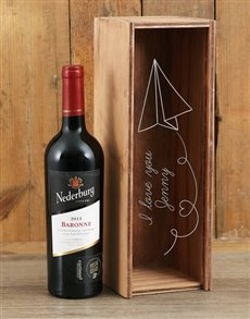 gifts: Personalised Paper Hearts Nederburg Crate!