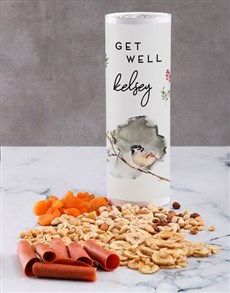 gifts: Personalised Get Well Gourmet Fruit And Nuts Tube!