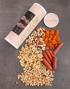 gifts: Personalised Friendship Fruit And Nuts Tube!