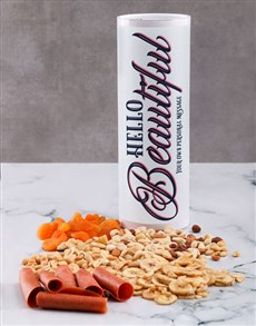 gifts: Personalised Beautiful Gourmet Fruit And Nuts Tube!